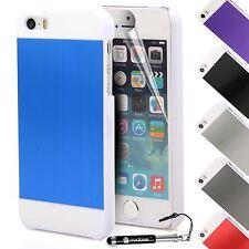 For Apple iPhone SE 5 5S Case Brushed Aluminium Metal Bumper Hard Back Cover