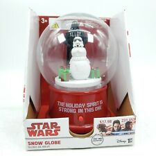 Star Wars Snow Globe Darth Vader and Storm Trooper Snowman by Gemmy Musical