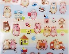 Kawaii mochi forest animal stickers! Zakka planner stickers, cute cats & deer