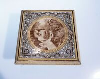 ANTIQUE FINE PORCELAIN TILE PAINTING