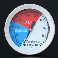 """2"""" Outdoor BBQ Smoking Thermometer Temp Gauge Charcoal Grill Smoker Temperature"""