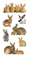 Scrapbooking Stickers Paper House Slim Bunnies Bunny Rabbits Babies Repeats
