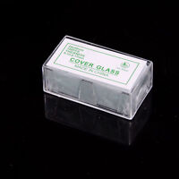 100x Blank Microscope Square Cover Glass Coverslip Slides Lab Set 24 X 50mm M&C