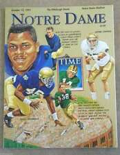 NOTRE DAME PITTSBURGH COLLEGE FOOTBALL PROGRAM - 1991 - MINT