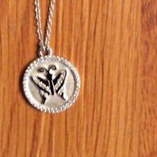 LaFonn Platinum Plated, Sterling Silver- Sim/Diamonds Butterfly Pendant Necklace