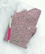 Victoria's secret limited edition pink glitter notebook journal with Crystal pen