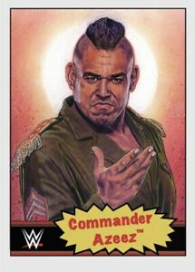 TOPPS WWE LIVING SET CARD COMMANDER AZEEZ #76 ONLINE EXCLUSIVE LIMITED EDITION