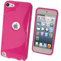iPod Touch 5th & 6th Gen - TPU RUBBER SILICONE S Line GEL Cover CASE SKIN - Pink