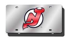 New Jersey Devils NHL Logo Mirror Look LASER License Plate