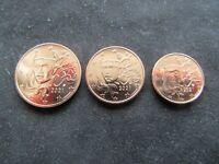 1 + 2 + 5 Cents France 2021 Neuve