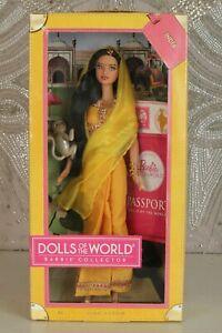 BARBIE DOLL OF THE WORLD INDIA PASSPORT 2012 GODDESS FACE SCULPT-NRFB RARE