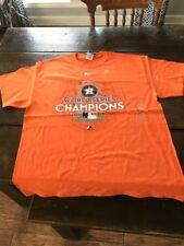Majestic Men's Houston Astros 2017 World Series Champions Shirt Sz.S NEW
