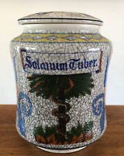 "Vintage OMC Otagiri Ginger Jar Urn Potato Solanum Tuber 6.5"" RARE Design Crackle"