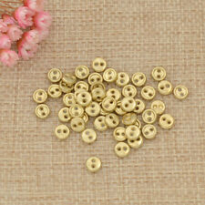 Mini Metal Doll Button with 2 Holes for Baby Sewing Crafts Tool Replacement