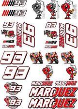 Marc Marquez Sticker Sheet decals set A4 sheet 28 stickers Repsol Honda Moto Gp