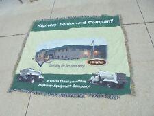 small blanket or lap throw highway equipment company hi-way construction trucks