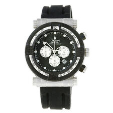 NEW CROTON CC311196BSBK MEN'S CHRONOGRAPH SPORT WATCH BLACK CARBON FIBER