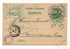 Germany 1900 postcard sent to Naumburg