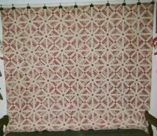 "Faux Fabric ""CROSSROADS"" Quilt, c. 1865-1875, Pennsylvania, 74"" x 86"", Cottons"