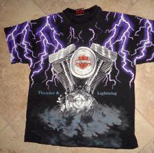 Unique Harley Davidson Thunder & Lightning t-shirt Men's L Large