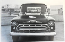 "1957 Chevrolet Pickup front view 12 X 18"" Black & White Picture"
