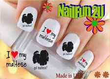 Nail Art #139 Dog Breed Got Maltese? Silhouette WaterSlide Nail Decals Transfers