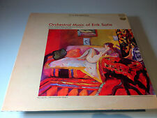 """Manuel Rosenthal conducts Orchestral Music of Eric Satie 12"""" Classical LP"""