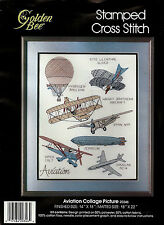 Cross Stitch Kit Collage Picture Stamped Golden Bee Zeppelin Piper Colt