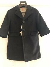 NWT Authentic Burberry Boys Charcoal Grey Cashmere/Wool Dress Coat Jacket 18M