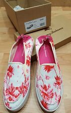 Women's Tommy Bahama $ 58 Elina Art of Palms size 9 Pink palm trees pineapples