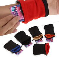 Athletic Travel Running Wrist Zipper Pocket Sports Wristband Armband Wallet LJ