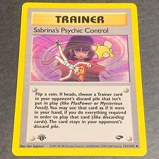 Pokemon 1st Ed. Gym Challenge UN-COMMON Sabrina's Psychic Control 121/132 - NM