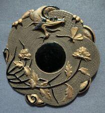 Ancienne broche Asiatique chine Indochine Dragon Libellule style ART NOUVEAU
