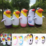 Inflatable Penguin Children Blow Up Siwmming Toy Birthday Party Animal Punch Bag