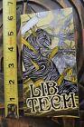 LIB TECH Snowboards Worm Monster Attack Space Alien Yellow Snowboarding STICKER