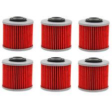 6Pcs Oil Filter For Yamaha XVS650 XV250 XVS1100 V-STAR Aprilia Pegaso 650 Trail