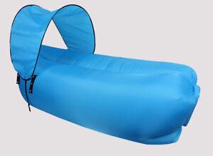 Inflatable Lounger Hammock Air Sofa with Sunshade - Portable Air Sofa