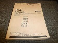 Caterpillar Cat 140M Motor Grader w/ C7 Engine Parts Catalog Manual Book B9D1-Up