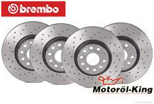 BREMBO Bremsscheiben gelocht VW Caddy + Golf  Vorne 288MM + Hinten 272MM