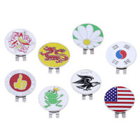 Golf Ball Markers with Magnetic Golf Hat Clip Brooch Shoelace Decor Gift