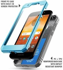 For Moto E5 Play / E5 Cruise Case Poetic Full Cover with Screen Protector Blue