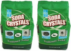2x Dri-Pak Soda Crystals 1Kg....For Laundry, Sinks, Drains and Much More