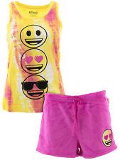 Emoji Tie Dye Short Pajamas for Juniors Mismatched Set Large Top XL Bottoms
