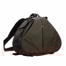 PhotoSEL BG412 Triangle Sling Bag with Rain Cover for DSLR Cameras Accessories