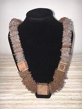 Wilma Spagli necklace Italy Vintage Wooden Gold Rare Edition Brow