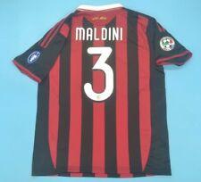 MAGLIA CALCIO RETRO MILAN HOME 09-10 3 MALDINI LAST GAME PAOLO CAPITANO