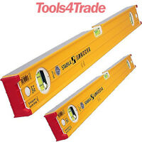 Stabila 96-2 Double Plumb Ribbed Box Level Twin Pack 60cm + 120cm STB962SET