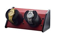 ORBITA WATCH WINDER SPARTA TWO OPEN IN RED POWDER COAT FINISH  W05529 LITHIUM