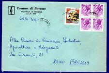 ITALIA - BUSTA COMUNALE di BOVEZZO(BS) AFF. con 4x25 L. SIR. + 100 L. CASTELLI