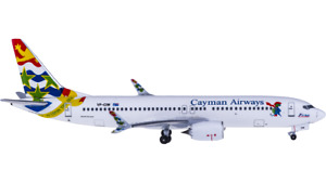 1:400 Aeroclassics Cayman Airways B737 MAX 8 Passenger Airplane Diecast Model